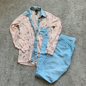 Sheer Button Up Top